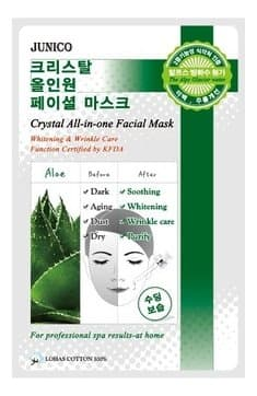 Тканевая маска для лица Mijin Junico Crystal All-in-one Facial Mask Aloe с экстрактом алоэ, 25 гр.